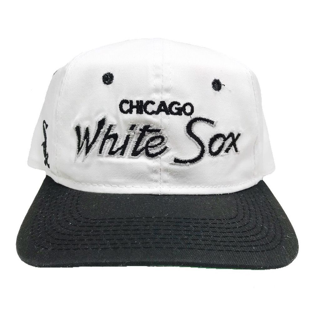 best sneakers 36236 ed1a4 Vtg Rare MLB Chicago White Sox Sport Specialties Script Snapback Hat.