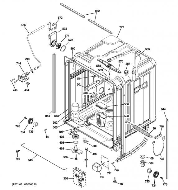 Ge Dishwasher Parts Diagram Ge Dishwasher Dishwasher Parts Diagram