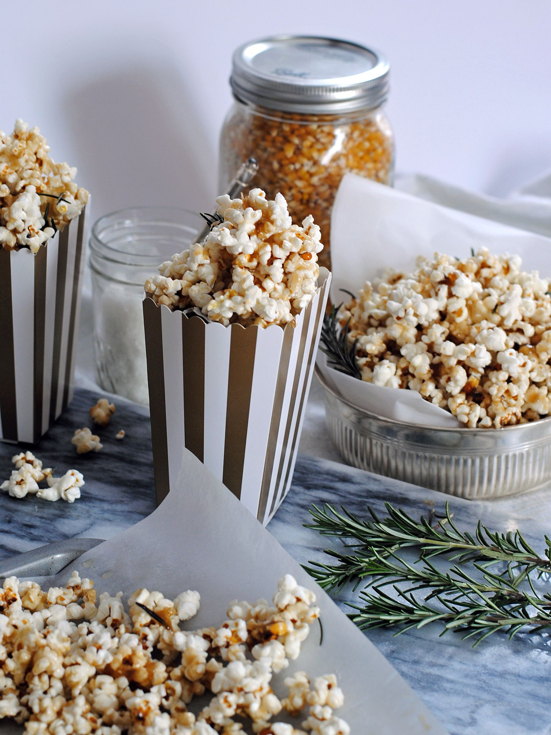 Salted Caramel Rosemary Popcorn + An Oscars Party. – DomestikatedLife