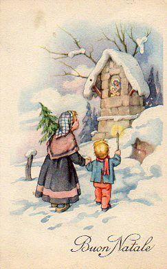 Cartoline Di Natale Depoca.Cartoline D Epoca Natalizie Vitoronzo Pastore Chirstwas