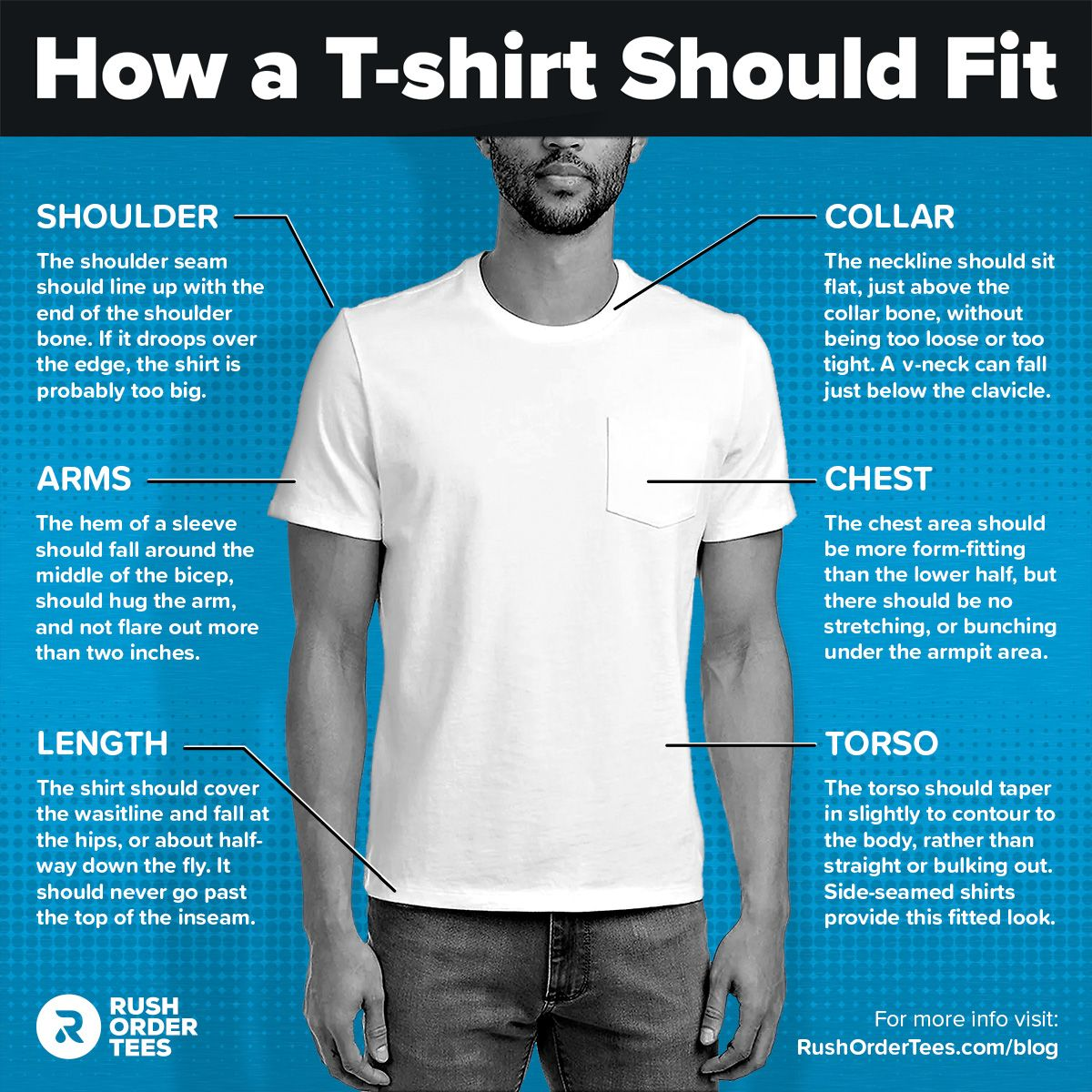 How a tshirt should fit the ultimate guide to choosing