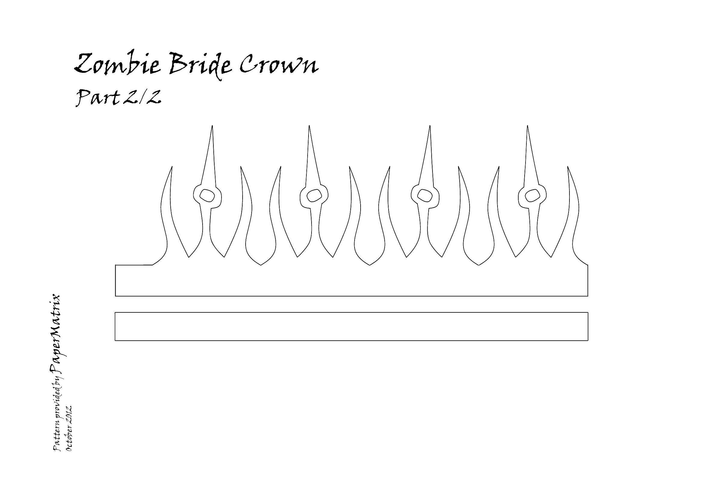 Printable Crown Template  Paper Crown Cut Out HttpPapermatrix