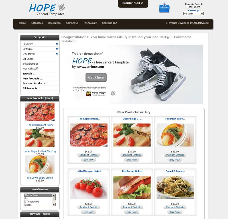 Official Support Thread For The Hope Mulitpurpose Zen Cart Template