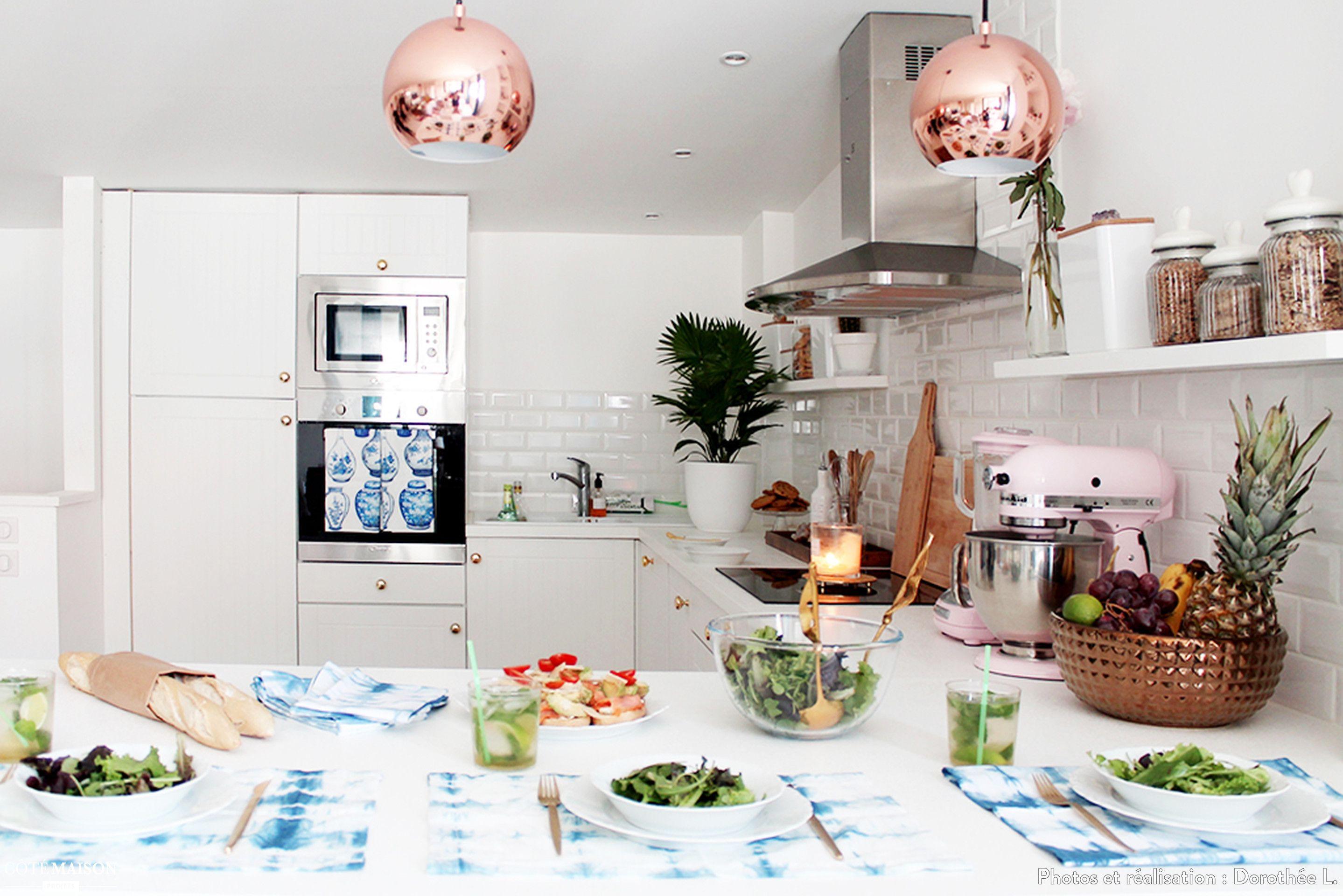 Ma cuisine ouverte sur le salon doroth e l c t maison - Cuisine blanche ouverte sur salon ...