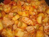 Photo of Recipe of pork Sauté with tomatoes and olives: the recipe …..