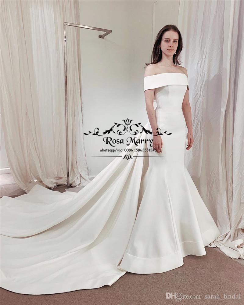 2020 New White Satin Mermaid Wedding Dresses Off Shoulder Plus Size Peplum Country Beach Vestido De Novia Greek Style Bridal Gowns From Sarah Bridal 199 00 Satin Mermaid Wedding Dress Bridal [ 1000 x 800 Pixel ]