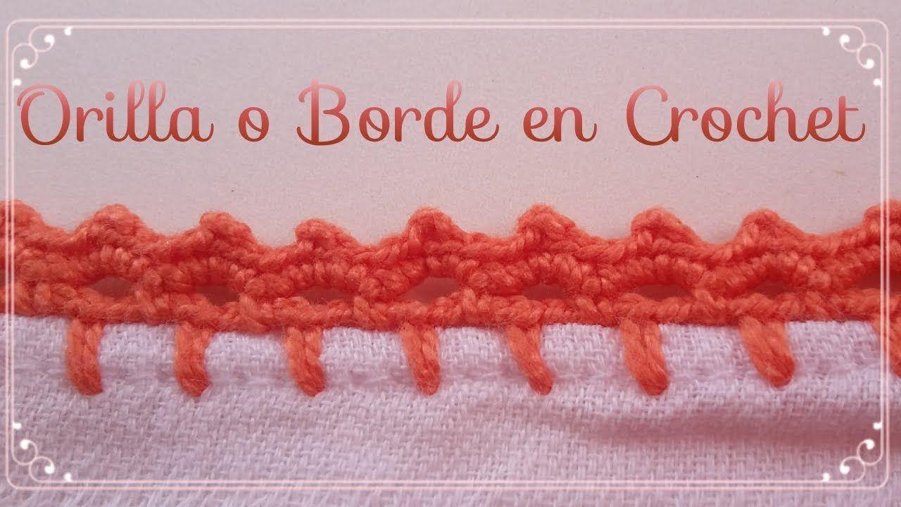 Como Aprender A Tejer Crochet Para Principiantes Orilla Super Facil Para Principiantes Orilla En Crochet 37