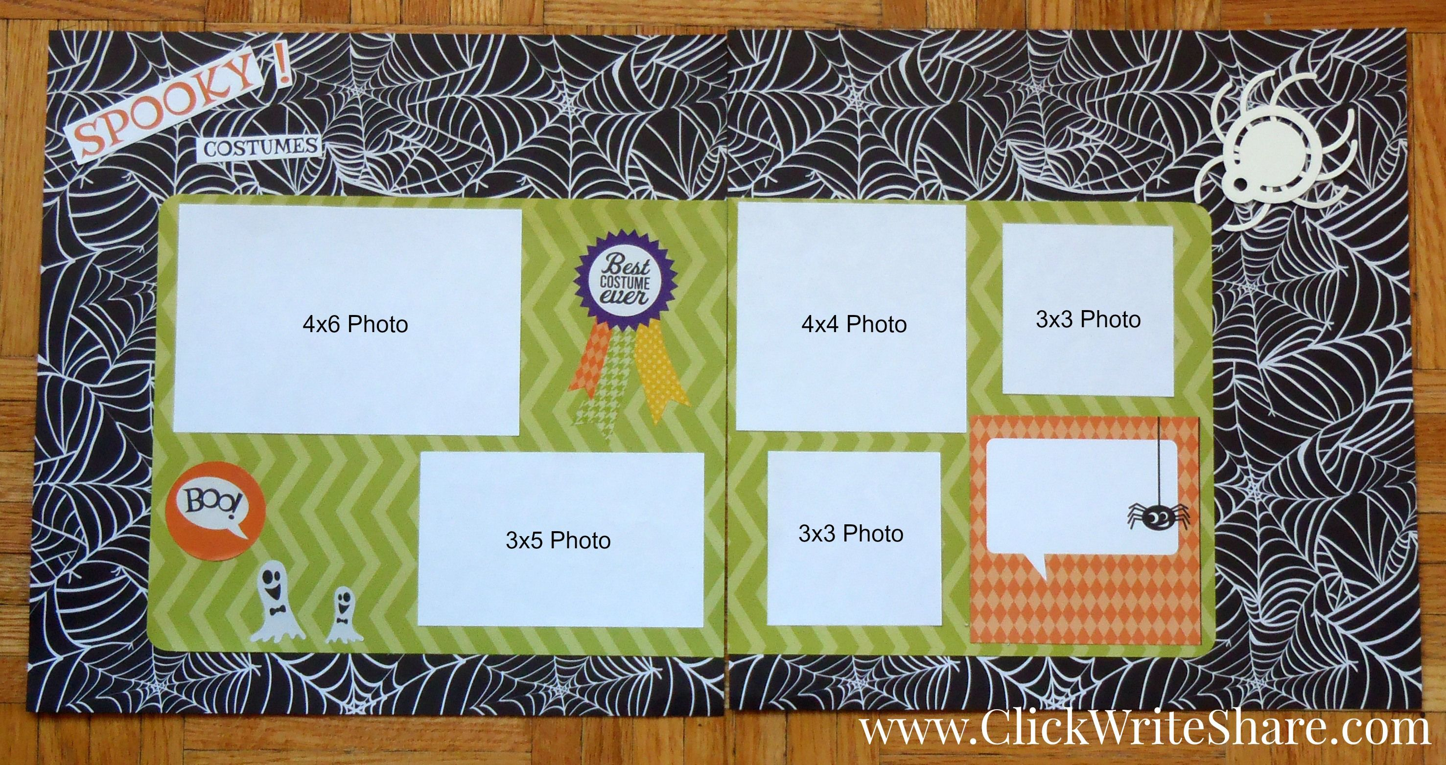 Scrapbook ideas creative memories - Halloween Scrapbook Layout Using Creative Memories Trick Or Treat Paper Pack And Title Stickers