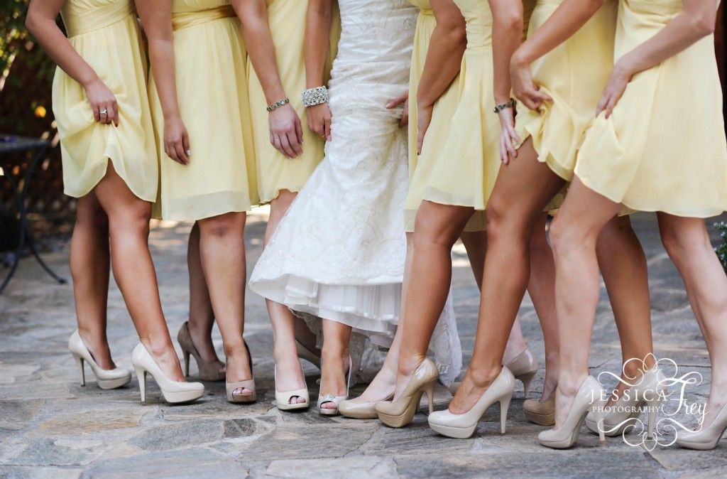 love the yellow dresses with nude shoes | Wedding Love ...