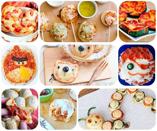 9 recetas divertidas de pizza Pizzas, Snacks kids and Snacks