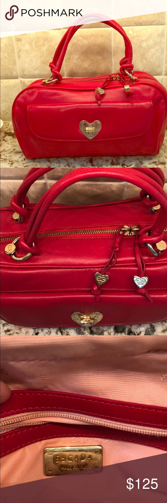 879fb6a371 Purse Escada red leather bag Escada Bags Mini Bags