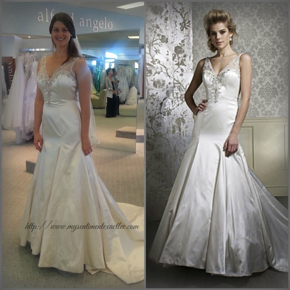 Real Women Brides Alfred Angelo Dress 884