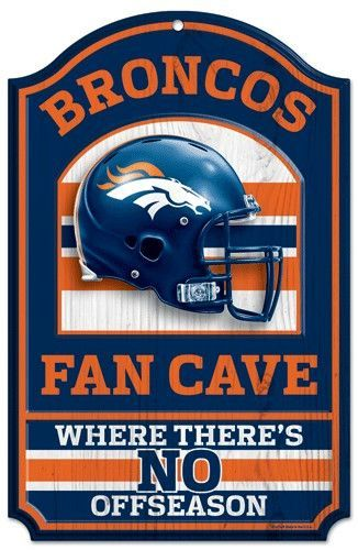 Denver Broncos Wood Sign 11x17 Fan Cave Design Fan Cave Broncos Fans Chicago Bears