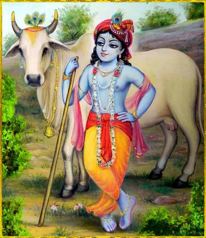 pic of shri krishna drawing