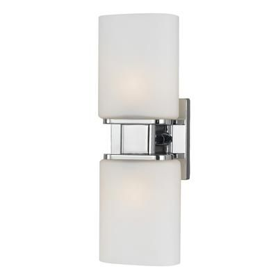 Eurofase Dolante Collection 2 Light Chrome Wall Sconce 19418 018 Home Depot Canada Sconces Wall Sconce Lighting Wall Sconces