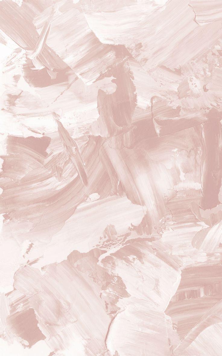 Rose Beige Abstract Paint Wallpaper | MuralsWallpa