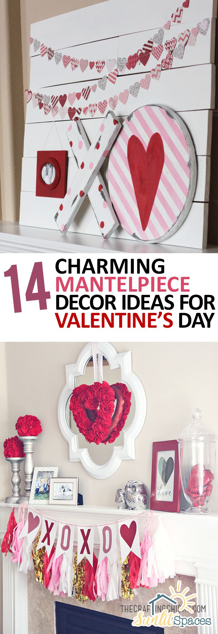 charming mantelpiece decor ideas for valentines day