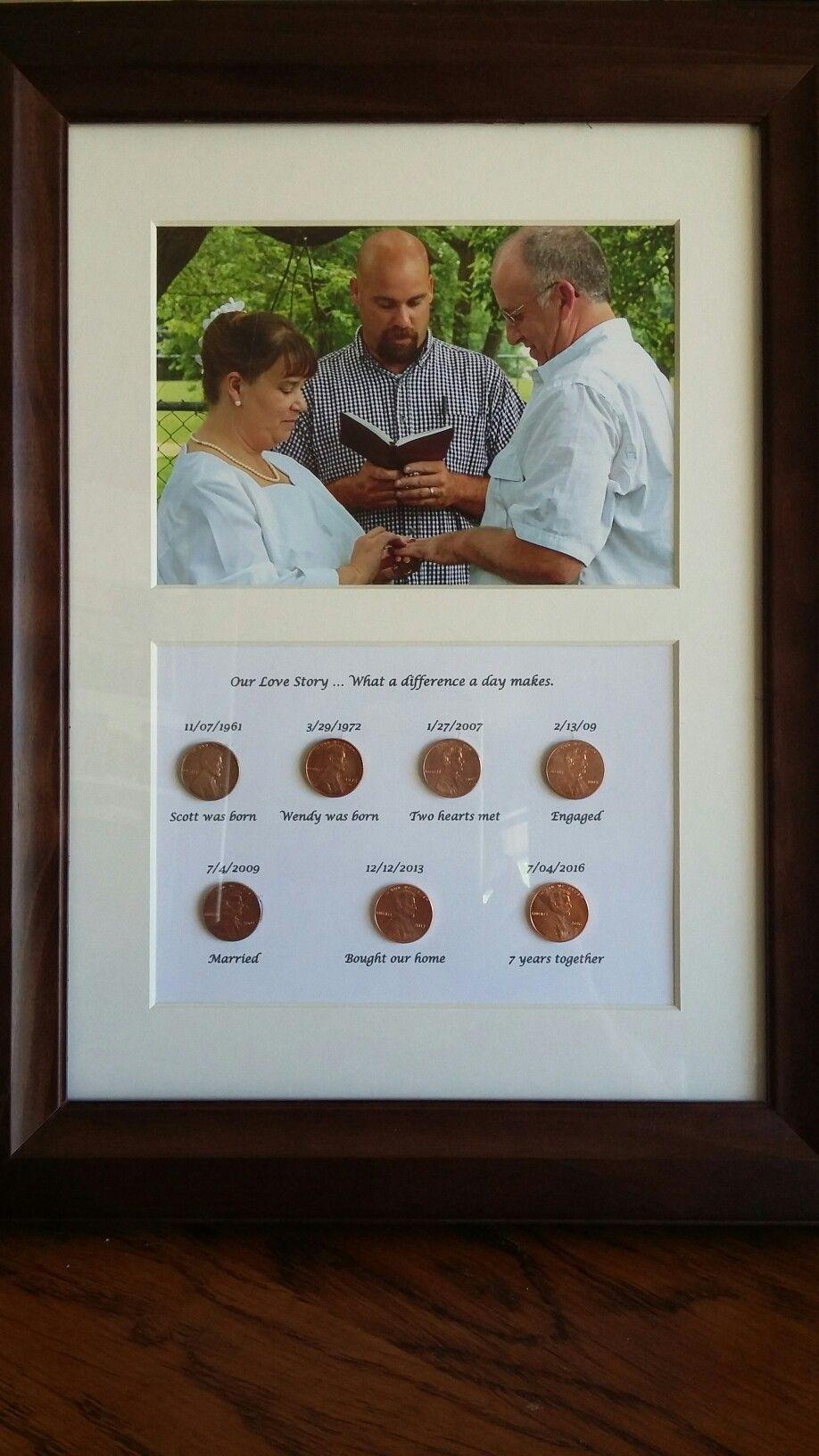7th anniversary gift for my husband diy anniversary