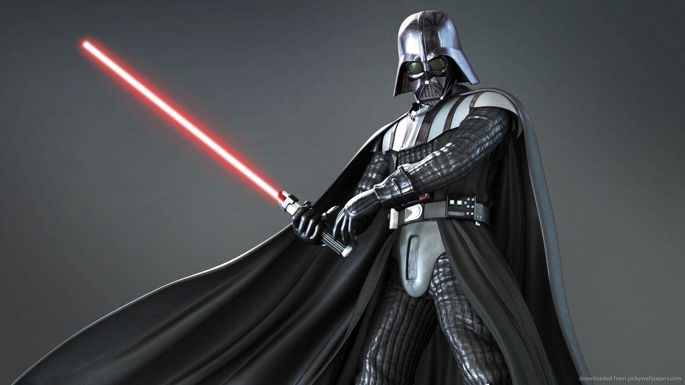 1366x768 Darth Vader 3d Render Wallpaper Darth Vader Star Wars Ahsoka Vader Star Wars