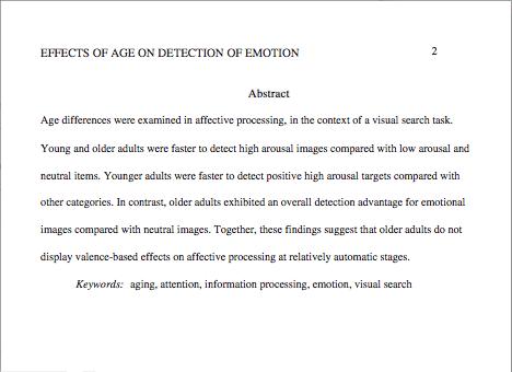 Apa Format Abstract Page Abstract Writing Apa Essay Format Apa Essay