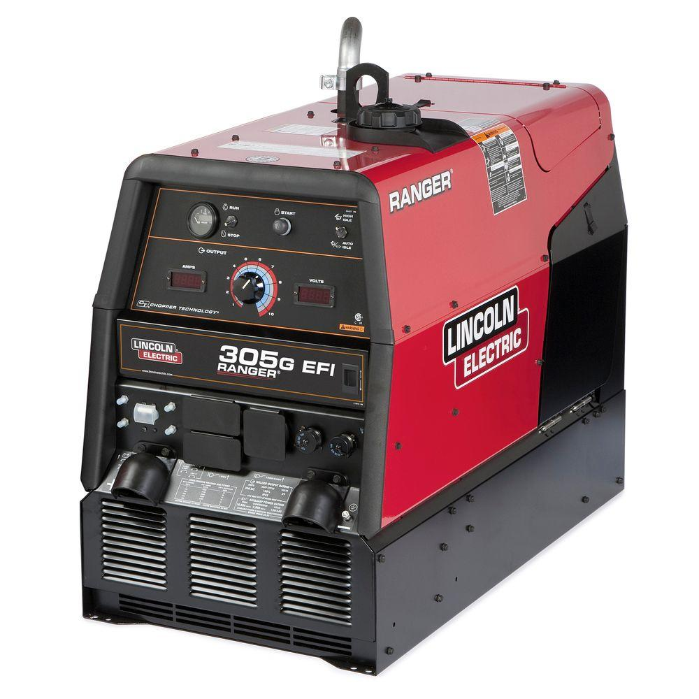 300 Amp Ranger 305 G Efi Gas Engine Driven Multi Process Dc Welder 12 Kw Peak Generator Kohler Efi K3928 1 The Home Depot Welding Machine Welder Generator Welders For Sale