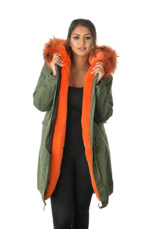 orange fur parka coat | Industrial Standard | Pinterest | Fishtail ...