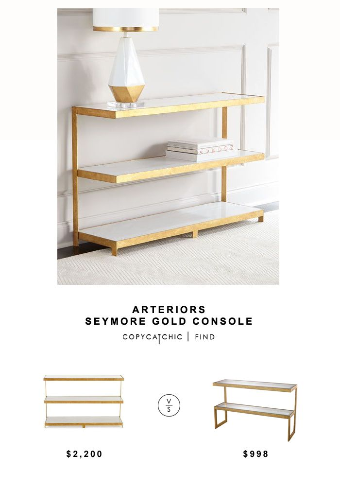Arteriors Seymore Gold Console Table Copycatchic Find Furniture Console Table Table