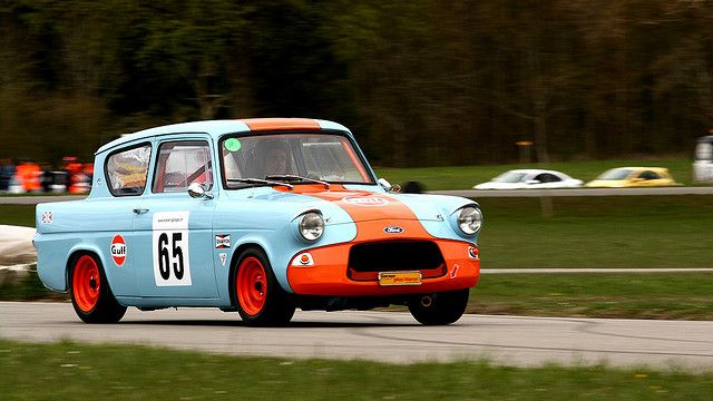 Ford Anglia Classic Racing Cars Ford Racing Gulf Racing