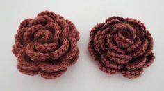 Rose häkeln * Anleitung * Crochet Rose, rose pattern, tutorial