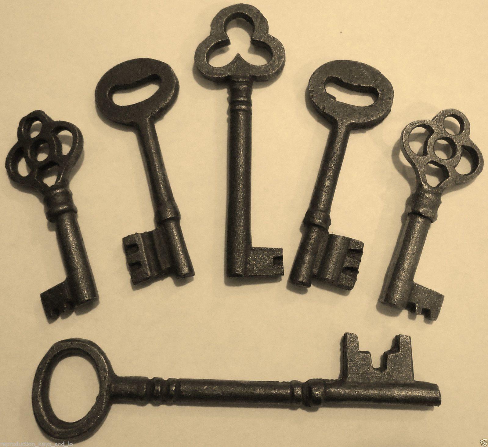 Antique Vintage Reproduction Old Skeleton Keys {6} ~ Wedding ...