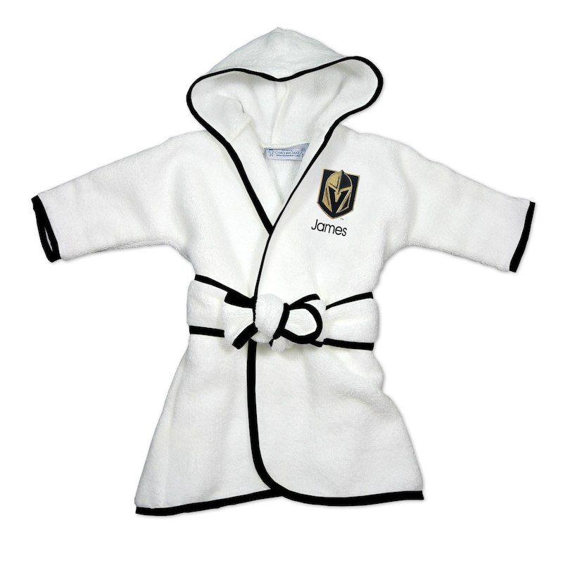 5d398f650 Vegas Golden Knights Newborn   Infant Personalized Robe - White ...