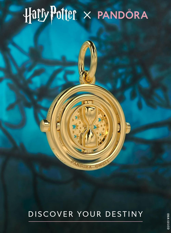 Feel like a hero with the new Time Turner pendant [Video]   Pandora harry  potter, Harry potter jewelry, Pandora