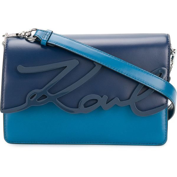 signature glaze shoulder bag - Blue Karl Lagerfeld 6qycienAKy