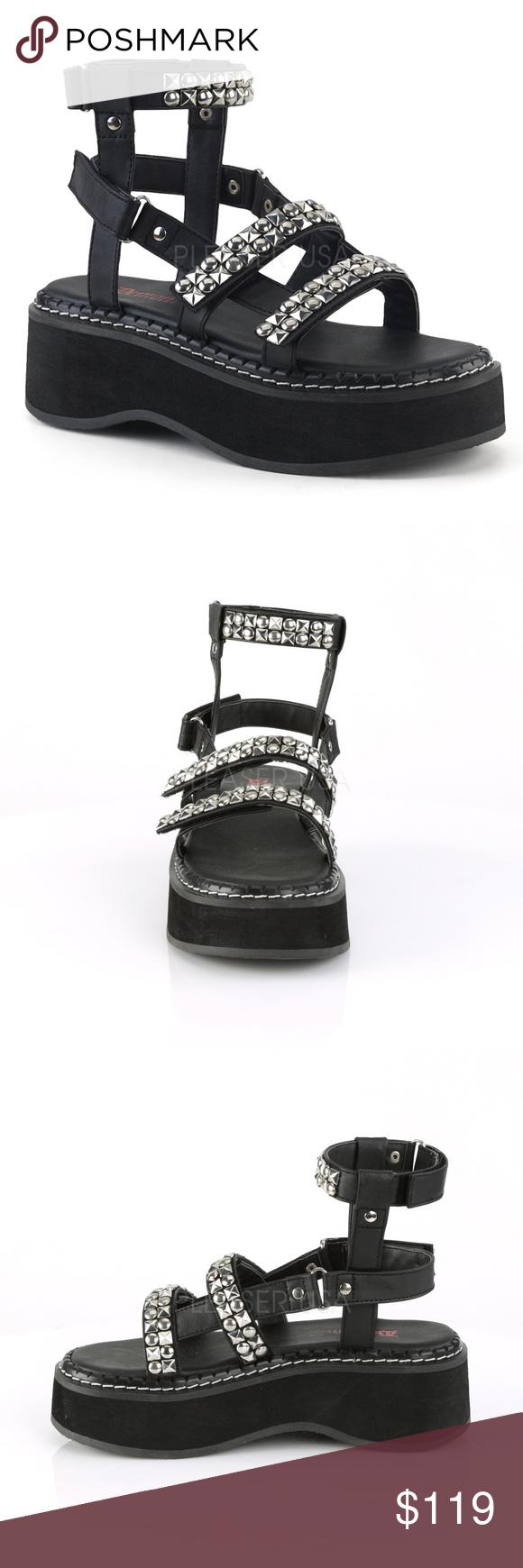 ecf39665852 Gothic Shoes Platform Gladiator Sandals Studded 2