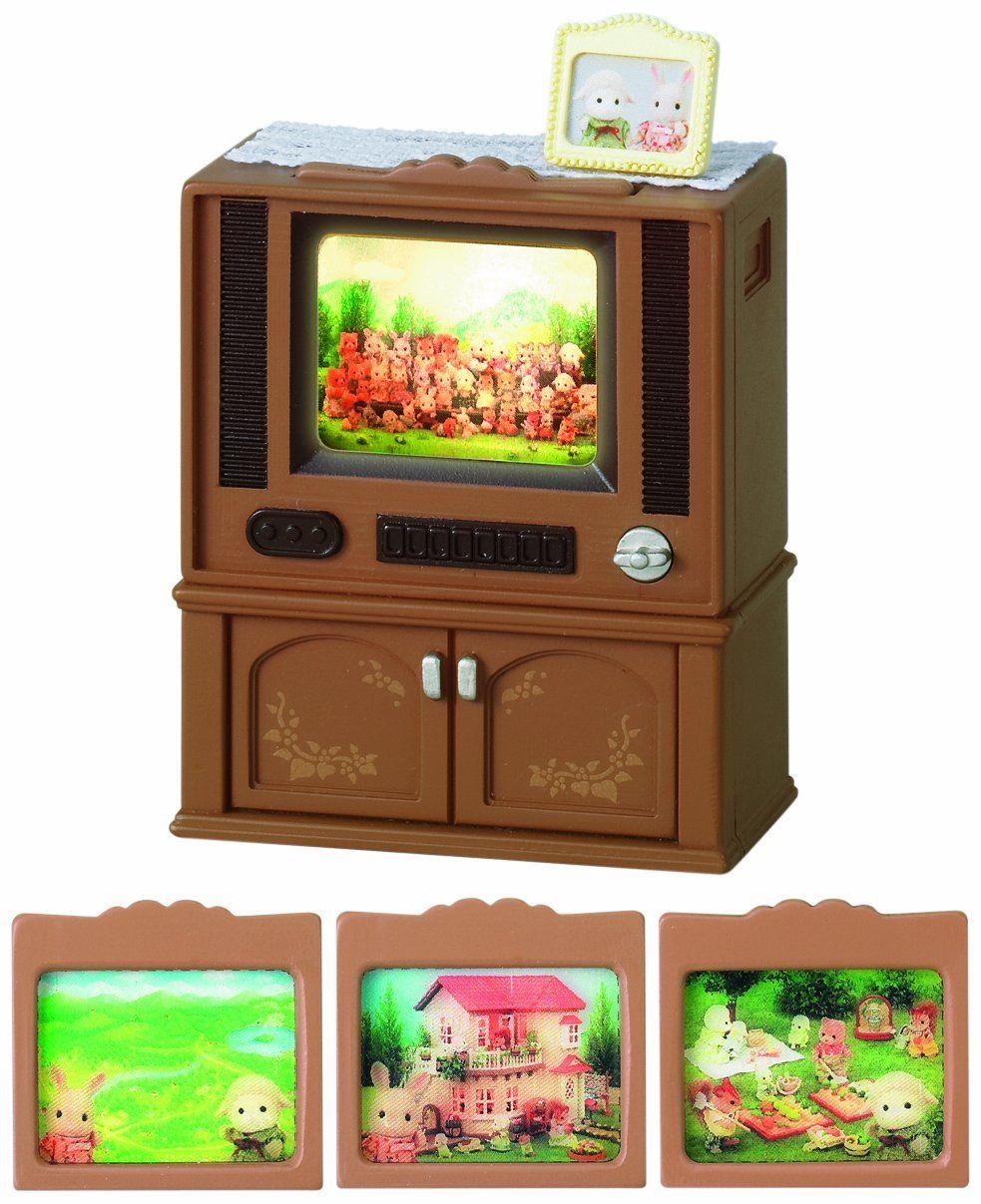 Amazon com sylvanian families deluxe tv set 4264 new toys games