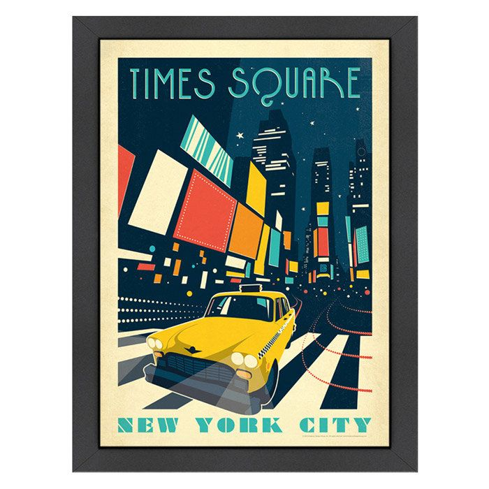 Times Square Framed Graphic Art