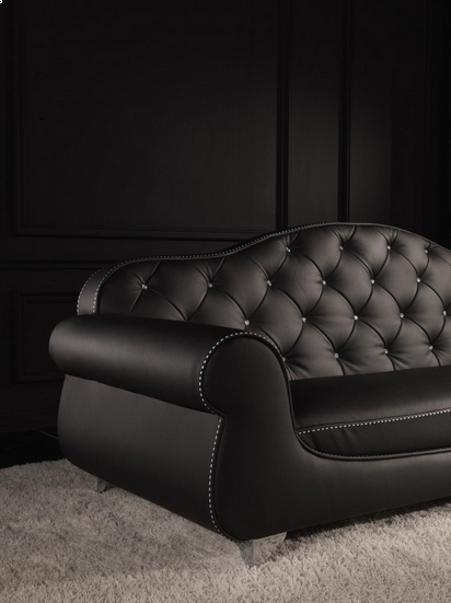 Swell Tufted Back Black Leather And Swarovski Crystal Sofa In 2019 Creativecarmelina Interior Chair Design Creativecarmelinacom