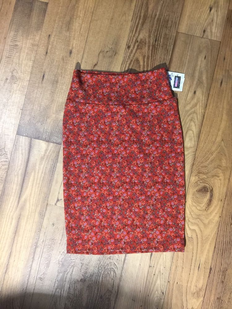 8571ae856 Cassie Skirt LuLaRoe XS Floral Print Burnt Orange Main Color #fashion  #clothing #shoes