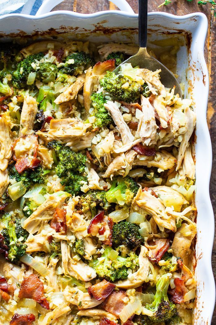 "Paleo Chicken Broccoli ""Rice"" Casserole images"