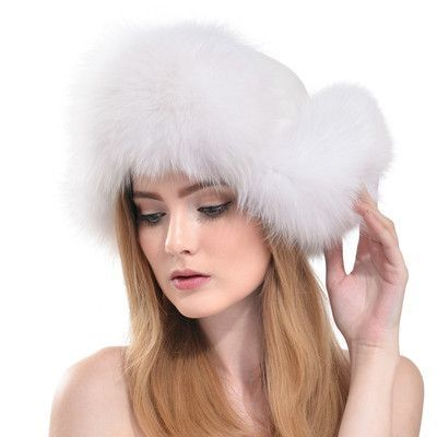 QUEENFUR Real Fox Fur Bomber Hats With Genuine Leather Top Hat For Women  2016 Winter Ear Protector Cpas Brown Raccoon Fur Cap 009cb9fb2692