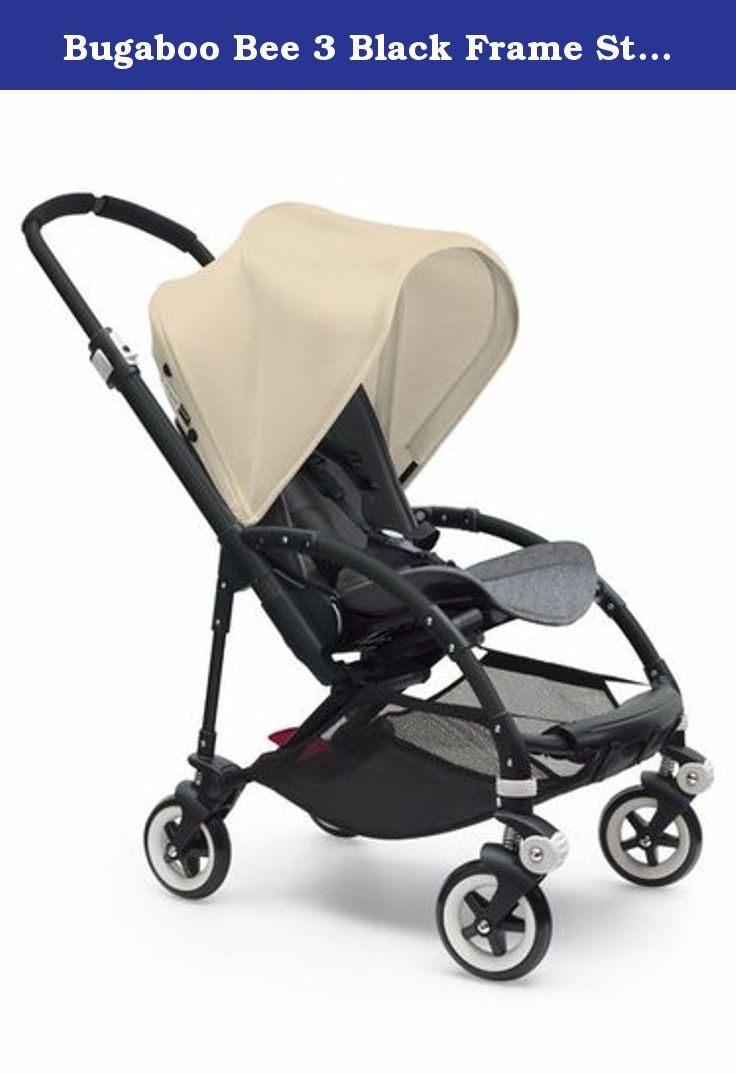 Bugaboo Bee 3 Black Frame Stroller With Grey Melange Seat (Off-White ...