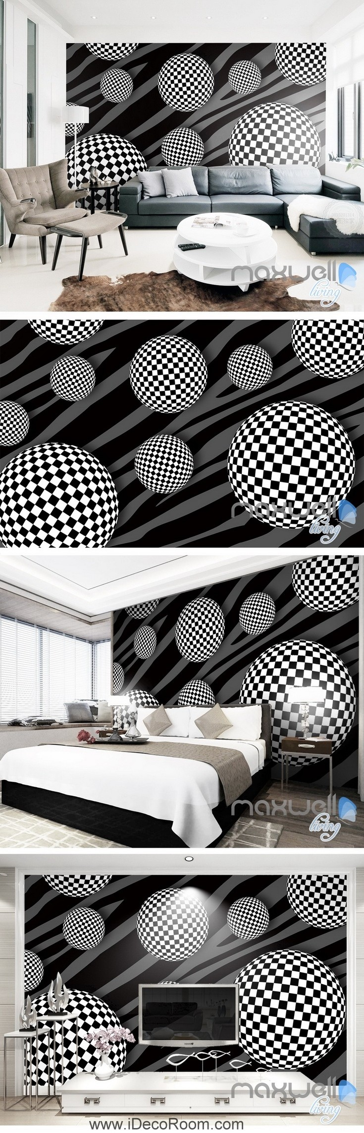 Best 3D Pattern Sphere 5D Wall Paper Mural Art Print Decals 400 x 300