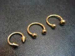 Resultado de imagem para piercing de ouro