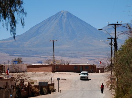 Panorama with volcan  San Pedro de Atacama - Chile 2008  www.stefanoaliquo.net