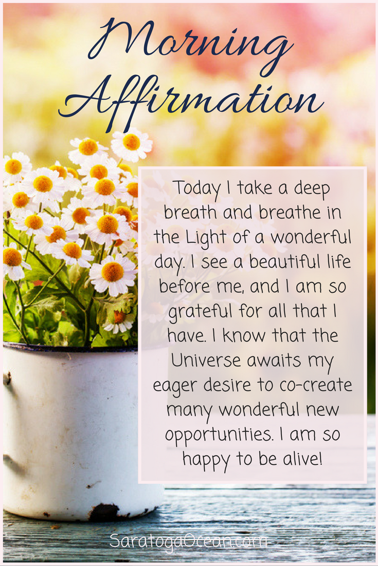 Law Of Attraction Love Pinterest Morning Affirmations