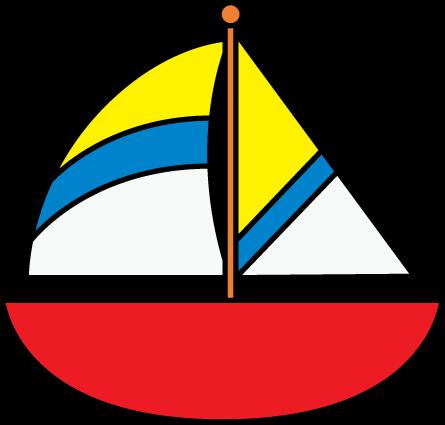 Striped Sailboat Clip Art Striped Sailboat Image Aplicacao Em Tecidos Quadros Infantis Aplicacoes