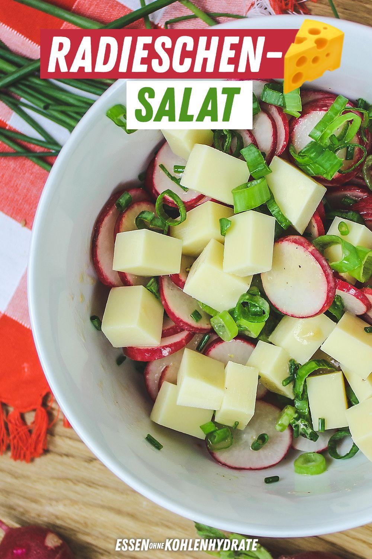 Radieschen Käse Salat
