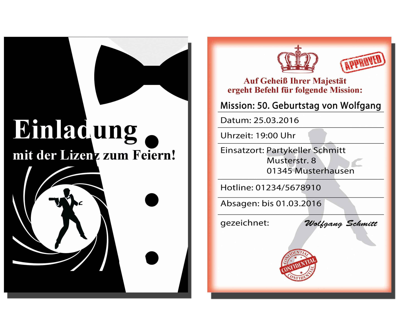 Einladungskarten 50 Geburtstag 1964 Kostenlos Download Selber