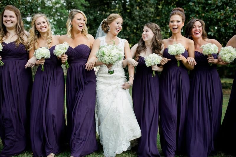 Kelly colored bridesmaid dresses