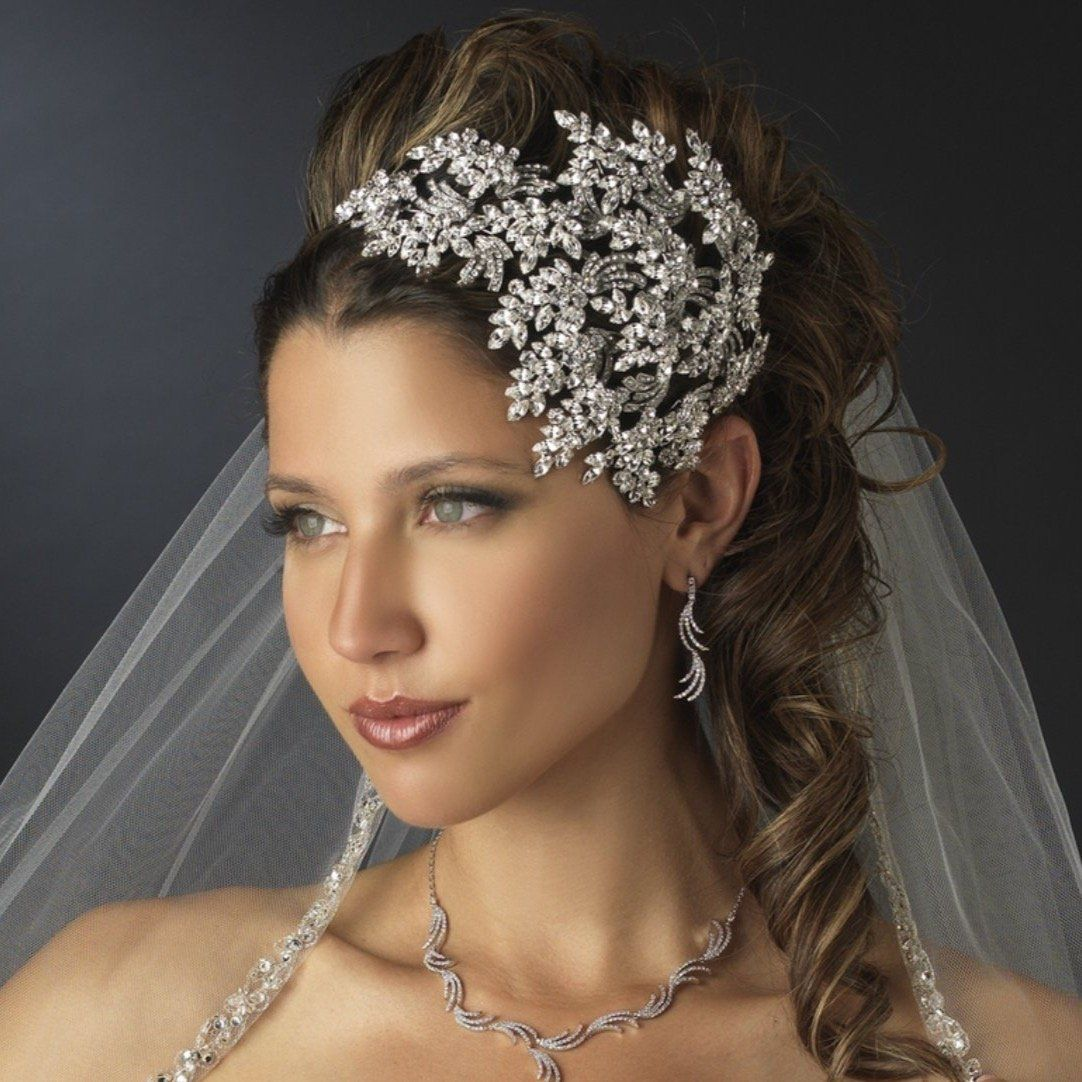 ELIZABETH Bridal Vine Crystal Side Hair Band  – Peinados